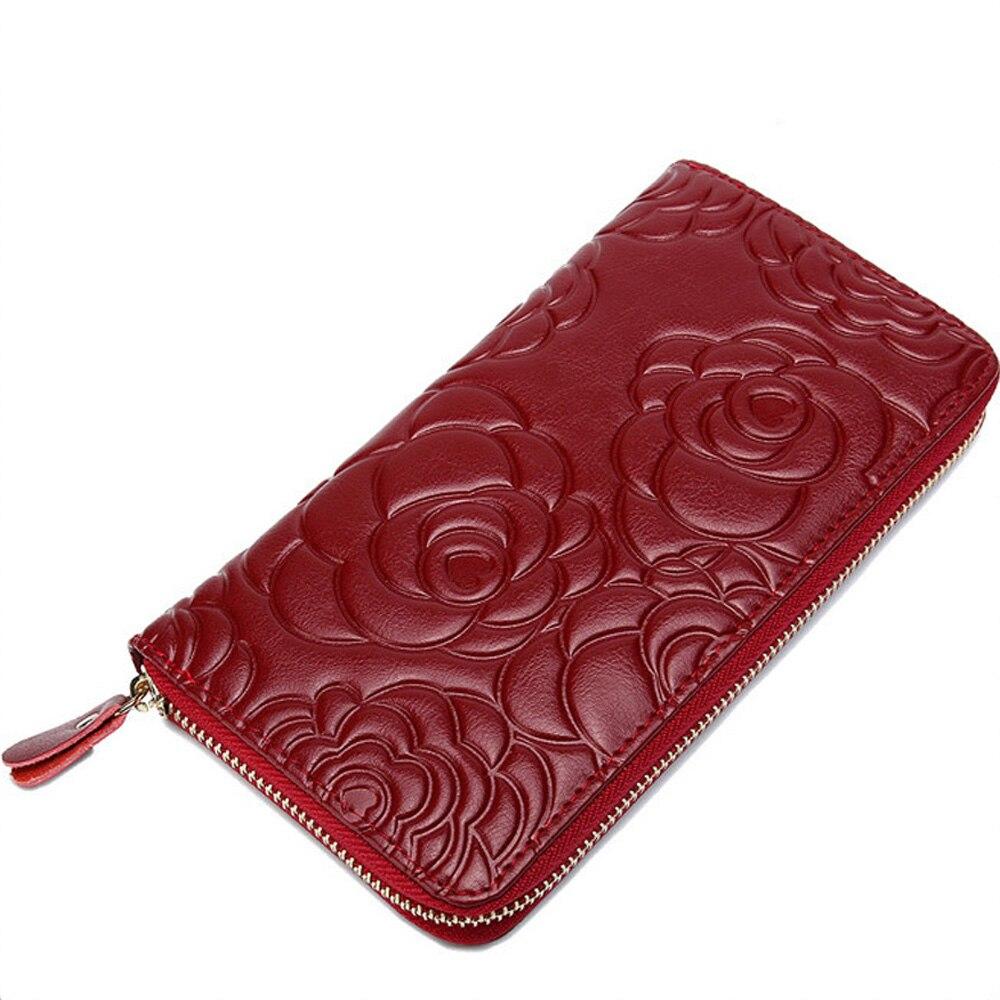 Ruiyee dames portefeuille en cuir de luxe femmes sac à main soixante-dix pour cent de réduction long portefeuille trois fois couche de peau de vache en relief femme sac à main