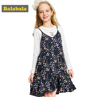 Balabala Girls Dresses For Party And Wedding A Line Dresses White Tee Shirt And Floral Dress