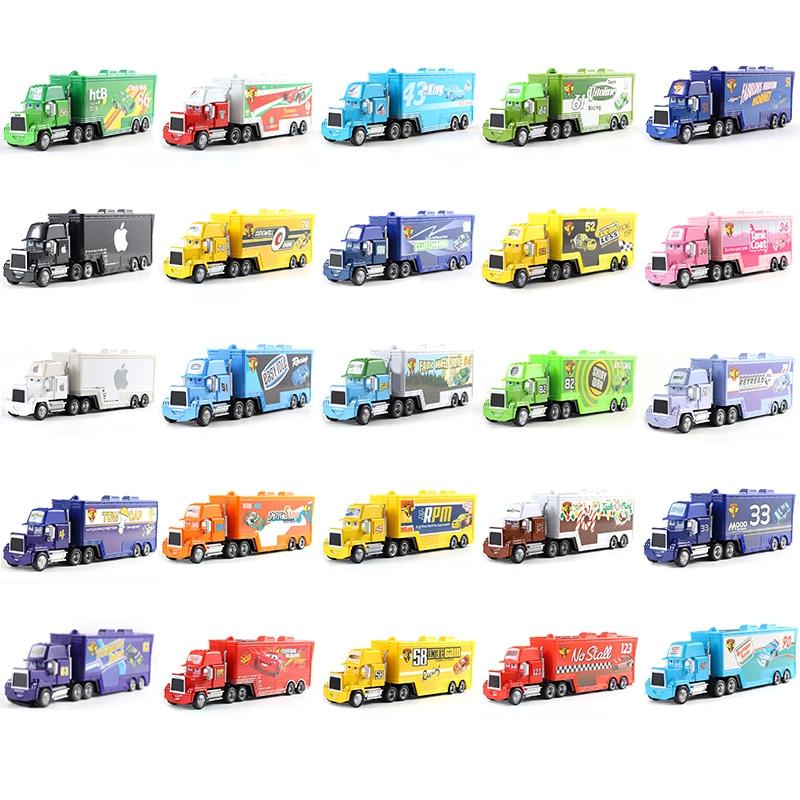 Cars Disney Pixar Cars Mack Chick Hicks King Francesco Hudson Truck Toy Car 1:55 Loose New Kid Gift Free Shipp