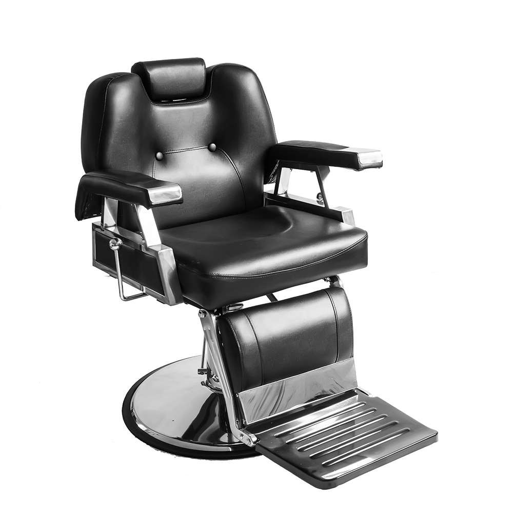 Купить с кэшбэком 10% off Heavey Duty Barbershop Shop Salon Barber Chair Tattoo Beauty Threading Shaving Tilting Back Comfort Chair Black