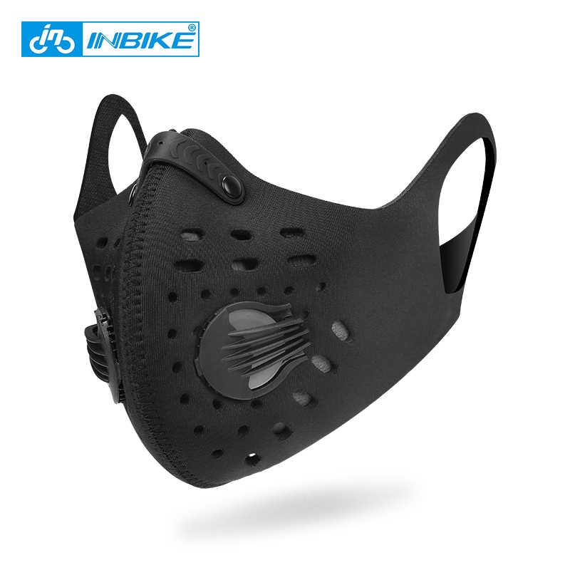 Inbike pm2.5 máscara respirador para a execução de treinamento de fitness esportes rímel airsoft bicicleta boca-muffle máscaras de bicicleta rosto cobrir