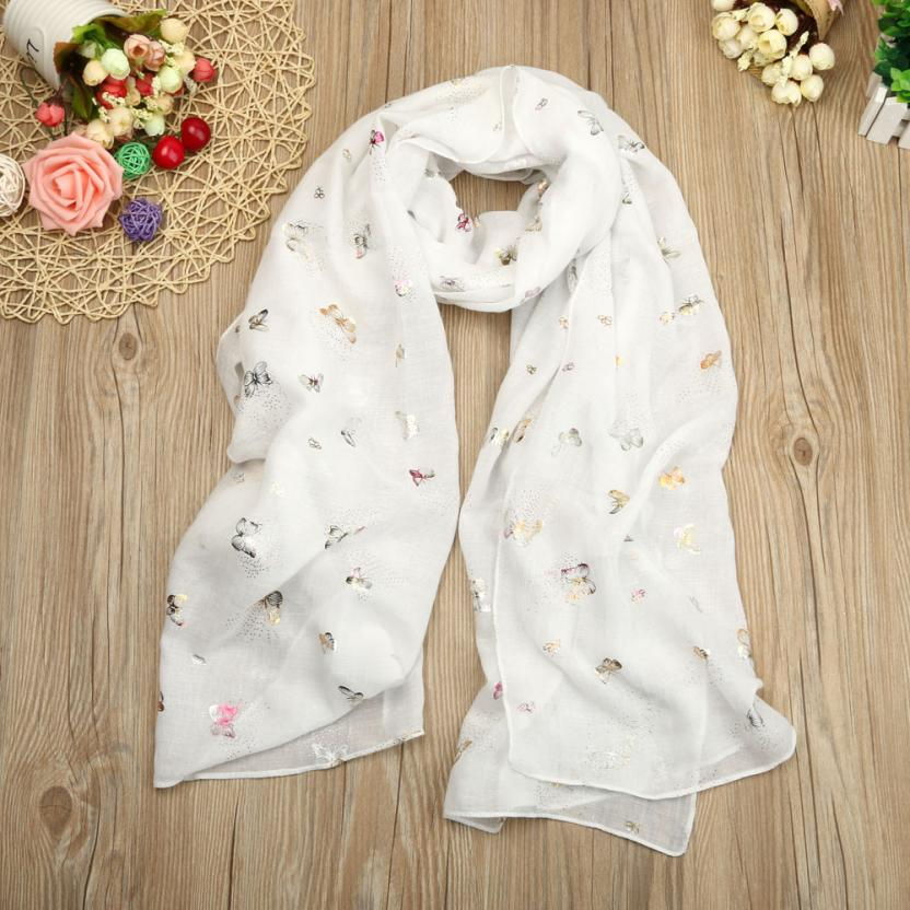 06fe196e719fc 2018 Scarves For Women  s Fashion Lady Butterfly Casual Print Long Wrap  s  Shawl Pashmina Stole Scarf PAUGO3