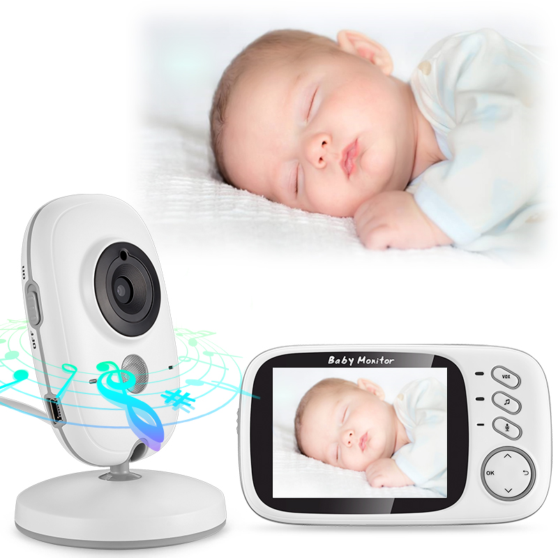 Baby Monitor 2.4G Wireless With 3.2 Inches LCD 2 Way Audio Talk Night Vision Surveillance Security Camera Babysitter 2 4ghz wireless night vision surveillance camera with 2 4 lcd handheld two way speaker receiver