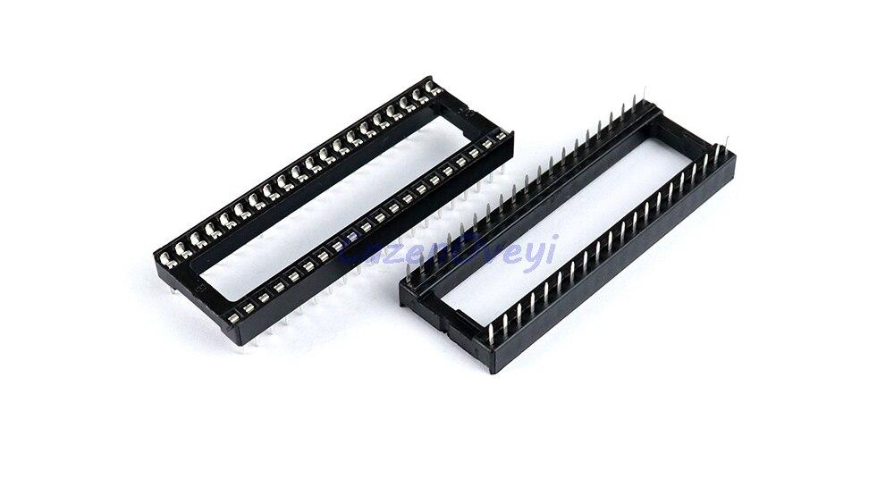 10pcs/lot IC Sockets DIP6 DIP8 DIP14 DIP16 DIP18 DIP20 DIP28 DIP40 Pins Connector DIP Socket 6 8 14 16 18 20 24 28 40 Pin In Stock