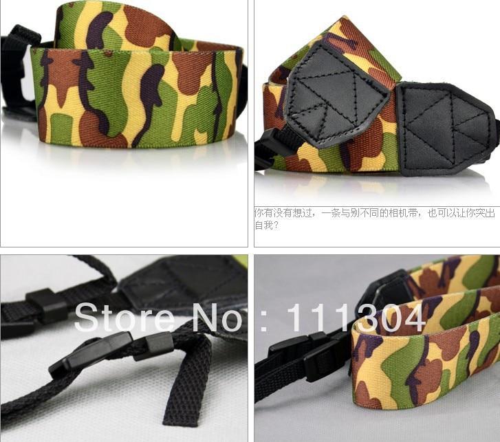 10pcs new Camouflage straps Softest camera shoulder strap coolest neck strap for canon nikon pentax d3100
