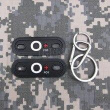 Fondo negro blanco designShoe hebillas Tipo de Sangre O POS 3D PVC parche Mosquetón Llavero PB270