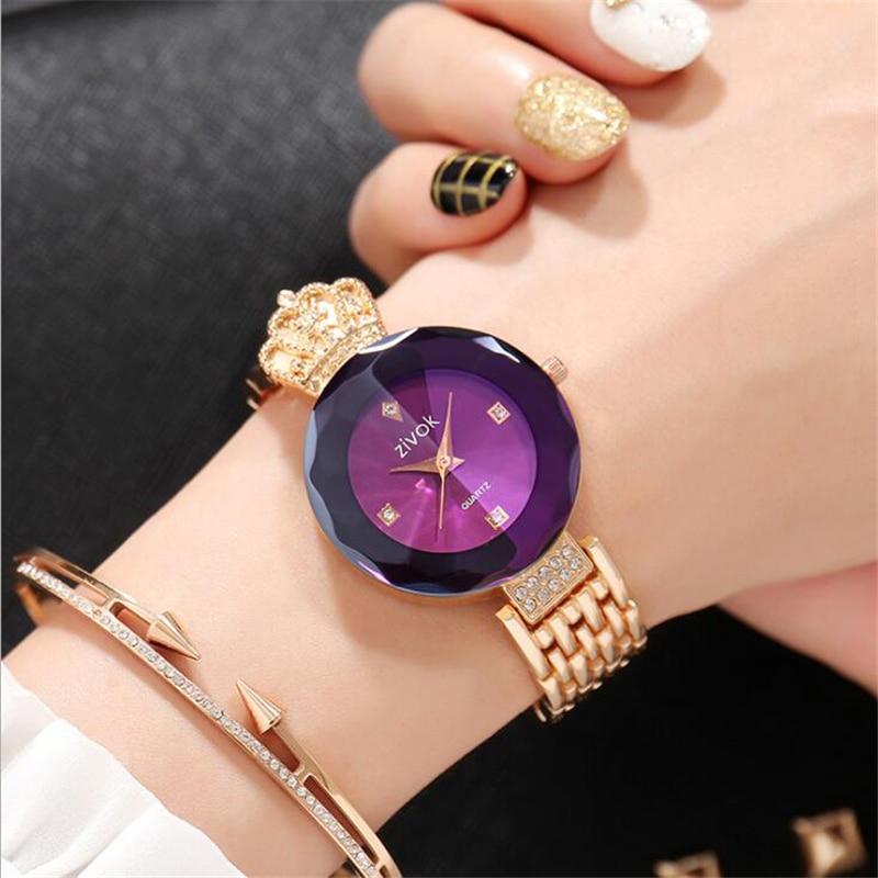 zivok luxe dames armband horloges rose goud mode quartz polshorloge - Dameshorloges - Foto 5