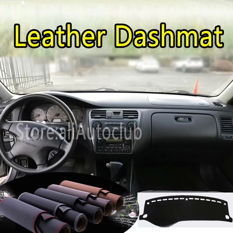 Us 45 6 24 Off For Honda Accord 6th Generation 1998 2002 Leather Dashmat Dashboard Cover Dash Mat Sunshade Carpet Custom Car Styling Lhd Rhd On