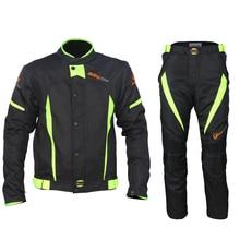 ¡Nueva llegada! Riding Tribe Black Reflect Racing chaquetas y pantalones de invierno, chaquetas impermeables de motocicleta trajes Pantalones
