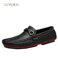 Men Shoes Genuine Leather Loafers Mens Slip On Driving Shoes Casual Classic Boat Xgvokh Brand Casual