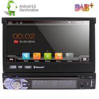 7'' Android 6.0 Flip Out Car DVD player Stereo Radio Single DIN 4Core Unit Player car styling in dash GPS NAV wifi bluetooth