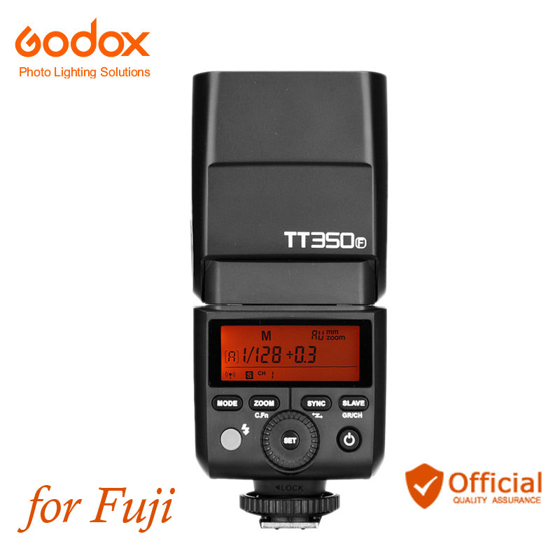 Godox TT350F Mini Speedlite Camera Flash TTL HSS 1/8000S 2.4G Wireless for Fuji Fujifilm X-Pro2 X-T10 20 X-T1 2 X-Pro1 X100T F цена