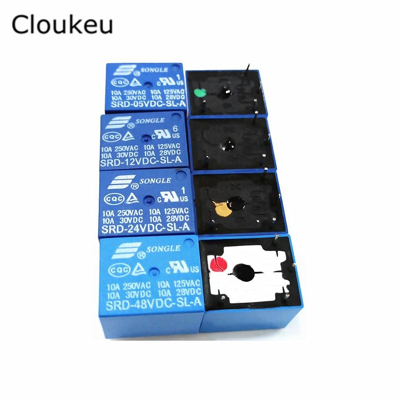 все цены на 2Pcs Relay DIP4 SRD- 05VDC 12VDC 24VDC 48VDC-SL-A 5V 12V 24V 48V 10A онлайн
