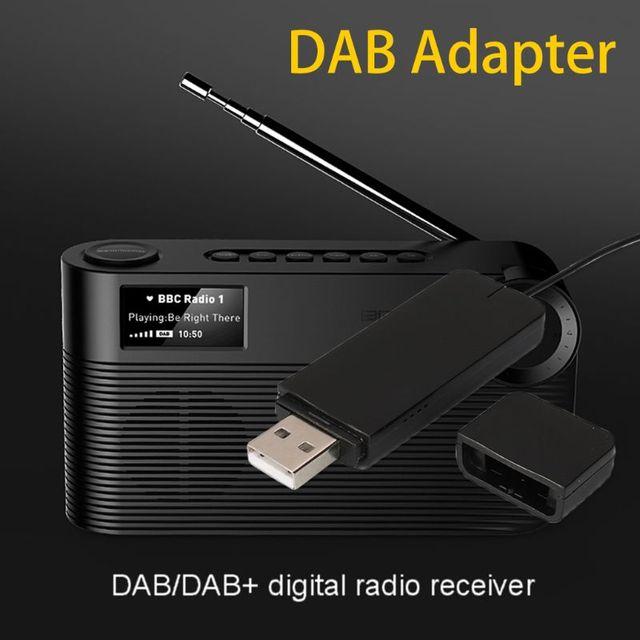 Novo Receptor com Antena de Rádio Digital DAB para Bluetooth Speaker Home Stereo TV USB com Função de Leitura de Disco Acessórios
