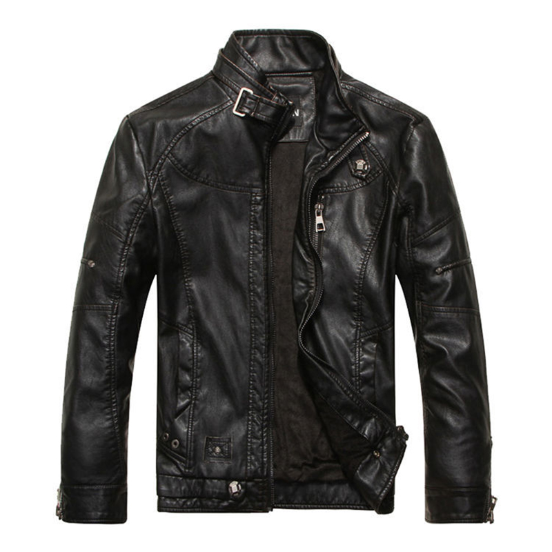Leather & Suede Plus Velvet Motorcycle PU Leather Jackets Men 2019 New Arrived Autumn Winter Business Casual Fashion Coats