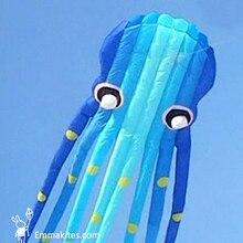 15M 3D niebieskie rurki w kształcie Parafoil ośmiornica latawiec oprogramowanie Power Kite zewnętrzne świąteczne pokazy
