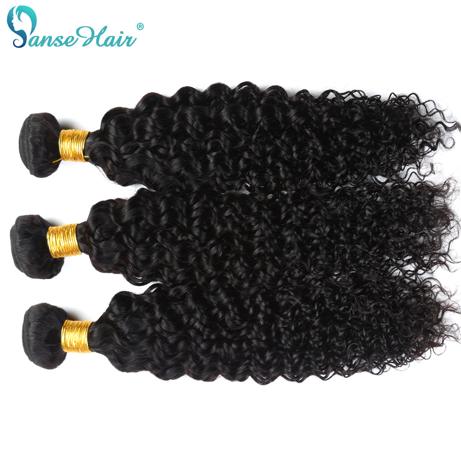 Panse Hair Kinky Curly Mongolian Non Remy Human Hair Weaving Customized 8 To 30 Inches 3 Bundles Per Lot 100% Human Hair Product