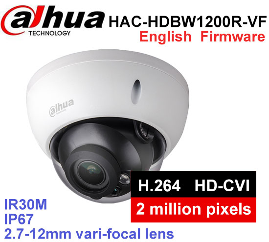 Dahua HAC-HDBW1200R-VF H2.64 MJPEG 2.8mm ~12mm varifocal motorized lens network camera 3MP IR50M IP camera wiht POE цена