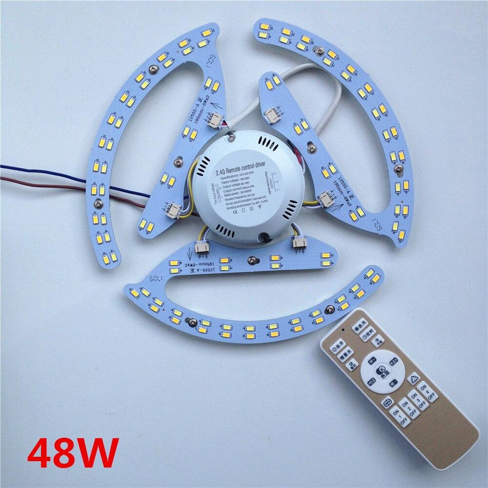 Nuovo 48W 64W 80W AC180-265V rotondo Magnetico HA CONDOTTO LA Luce di Soffitto HA CONDOTTO il Bordo del Pannello Circolare Luci Del Tubo Con 2.4g di Memoria di Controllo A Distanza