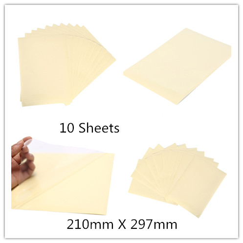 10Sheets 210mm X 297mm Self Adhesive Vinyl A4 Clear Transparent  Film Label Sticker For Laser Printer 21 X 29.7cm