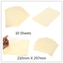 10Sheets 210 мм x 297 мм самоклеющиеся винил А4 прозрачный фильм наклейки этикетки для лазерного принтера 21 х 29,7 см