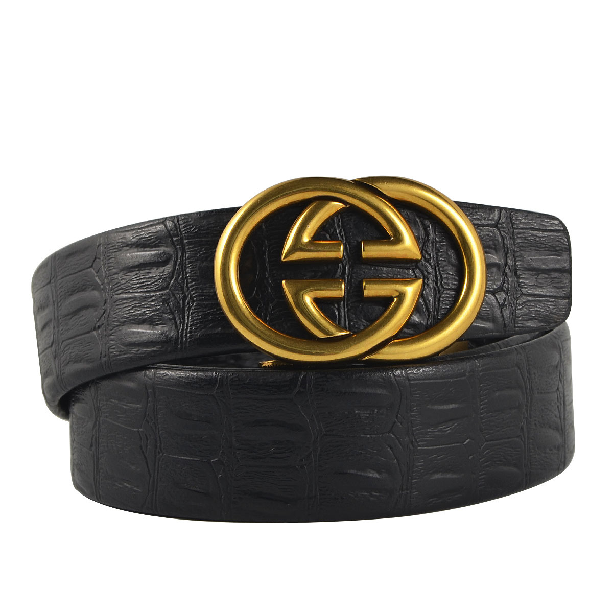 Guravio Luxury Designer H Belts Male Women Genuine Real Leather retro Buckle Strap