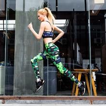 Rylanguage Women Fashion Legging Digital Printing Leggins Slim High Waist Leggings Keep Running Pants Female Fitness Leggings
