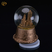 Creative Golden Christmas Home Decorations Music Box Good Quality Ornaments Crystal Ball New Year Gifts Shinning Ball