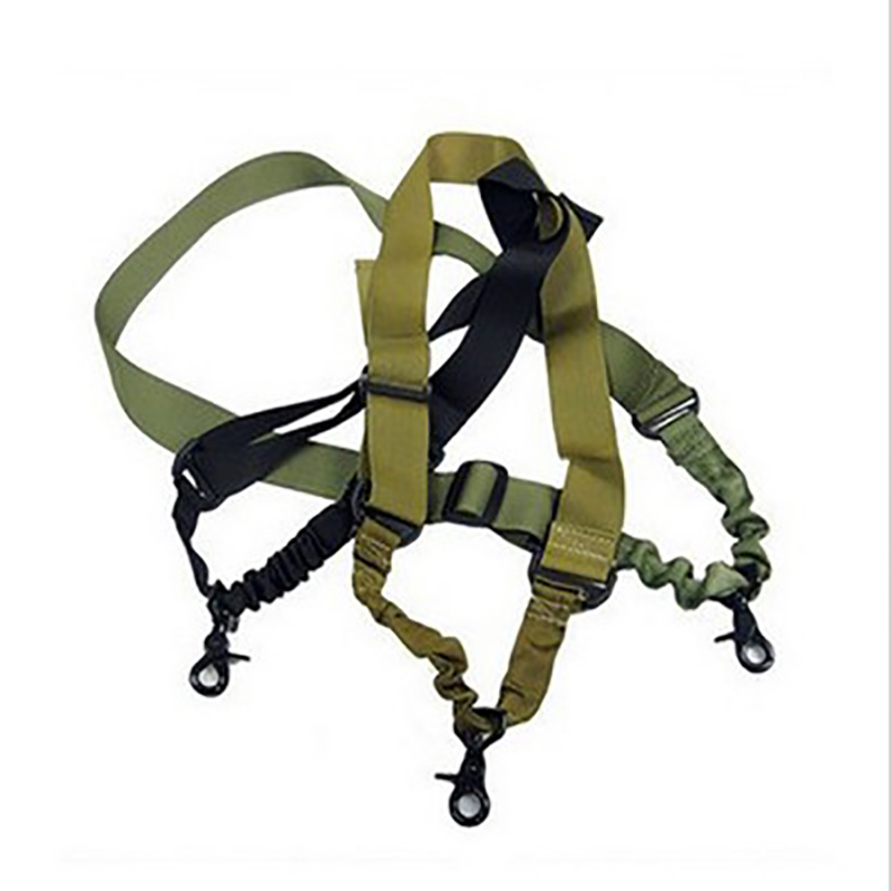New Nylon Adjustable Multi Function Tactical Single Point Bungee Airsoft Sling Strap Hunting Supplies