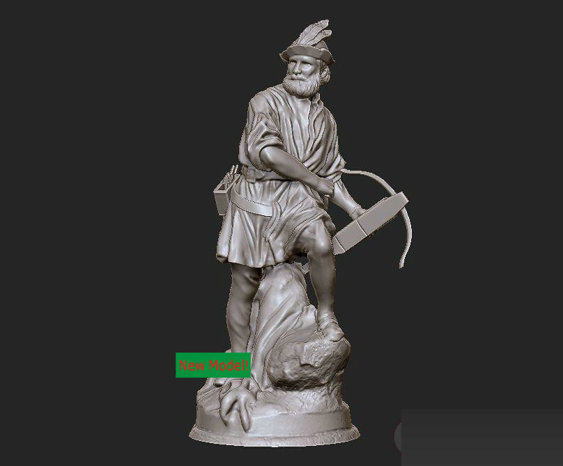 New model 3D model for cnc or 3D printers in STL file format William Tell christian cross 3d model relief figure stl format religion 3d model relief for cnc in stl file format