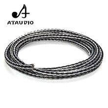 ATAUDIO Cable de altavoz Hifi de alta gama, híbrido OCC, bricolaje, chapado en plata, Cable a granel con 16 hebras