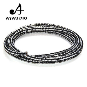 Image 1 - ATAUDIO Hifi Speaker Cable Hi end Hybrid OCC Silver Plated Diy Speaker Bulk Cable with 16 Strands