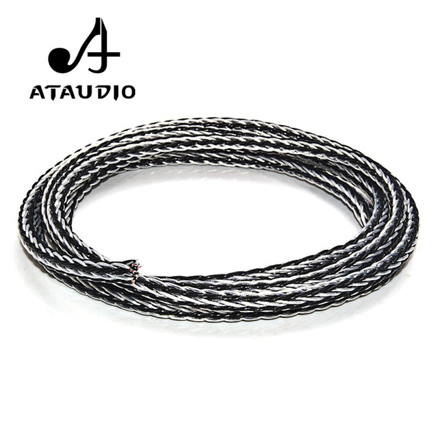 ATAUDIO Hifi Speaker Cable Hi end Hybrid OCC Silver Plated Diy Speaker Bulk Cable with 16 Strands