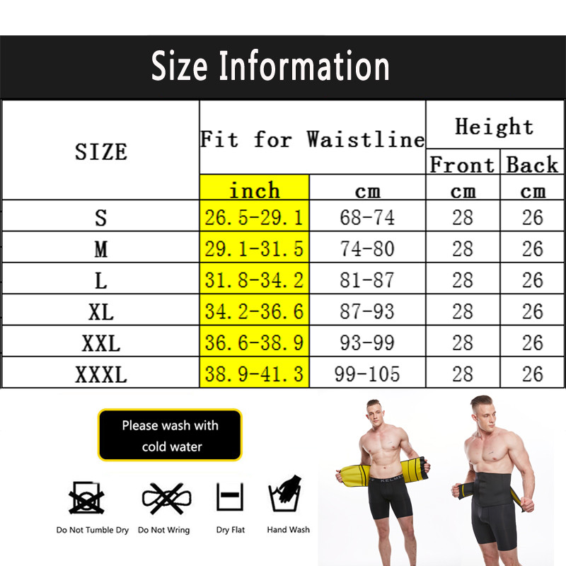 NINGMI Neoprene Waist Trainer Body Shaper for Men Corset Slimming Underwear Girdle Cincher Belt with Phone Pocket Slim Shapewear (5)