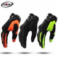 Suomie gants de Moto hommes course Gant Moto Moto Motocross gants d'équitation Moto respirant été doigt complet Guantes