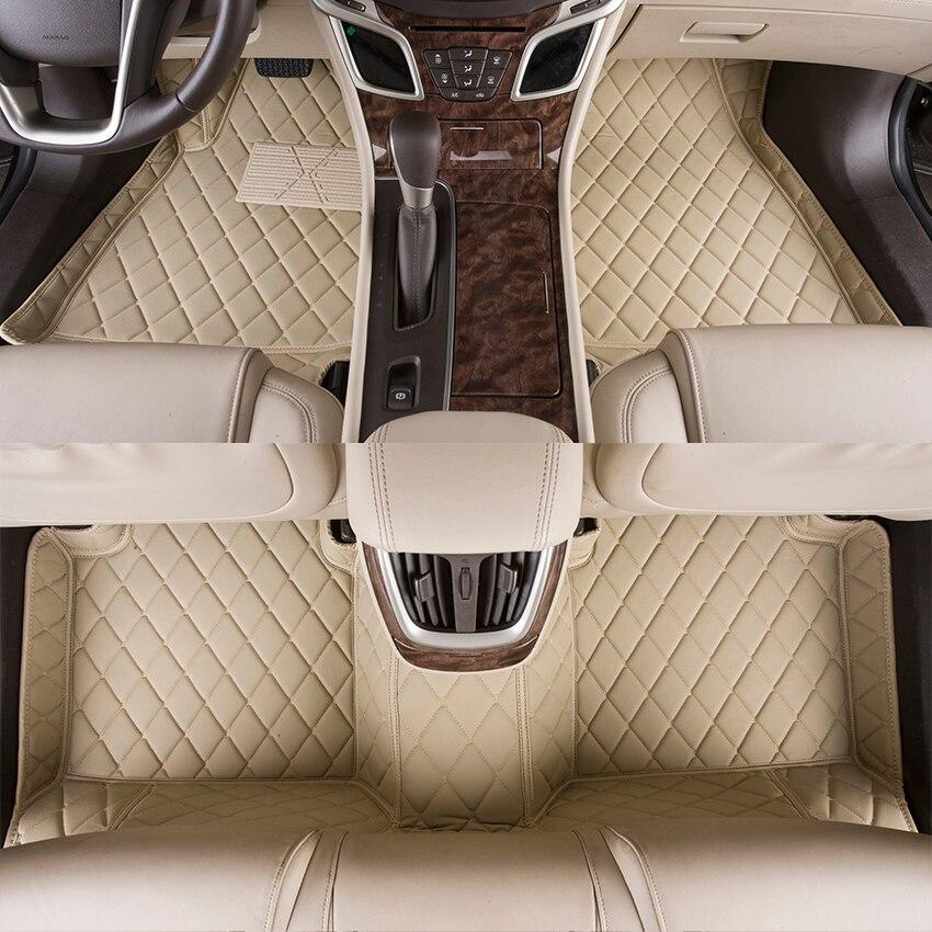 Car Foot Mats Customized for Skoda Superb Fabia Octavia Yeti Rapid 3D Covered Fully Floor Carpet Car Rugs