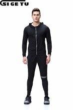7c510a6ba4250 2018 negro deportes Running trajes medias de Aptitud Deportiva gimnasio  entrenamiento para correr ropa deportiva
