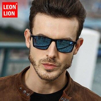a275a339f6 LeonLion 2019 polarizadas gafas De sol hombres espejo conducción Retro gafas  De sol UV400 De alta calidad Lunette De Soleil Homme