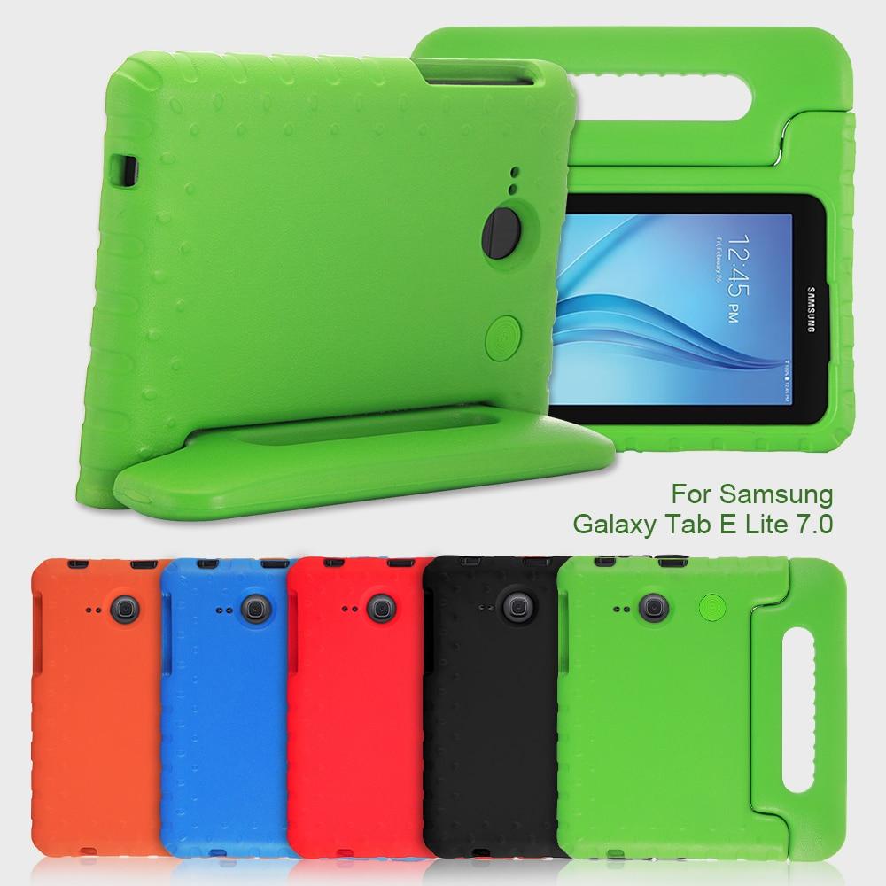 imágenes para E-lite Fundas para Samsung Galaxy Tab 7 Case Handle Soporte A Prueba de Golpes niños EVA Tab Cubierta de Bolsa para el Caso Del Galaxy Tab E Lite 7.0 conchas