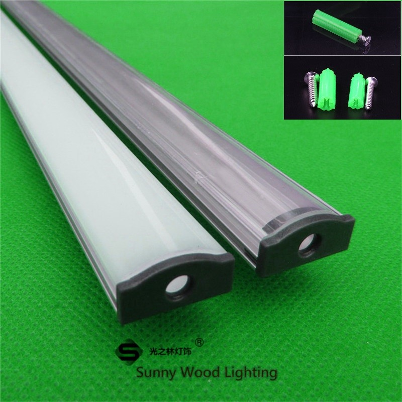 10PCS/lot 80inch 2m ultra slim  aluminum profile for12v 24v led strip, for 12mm pcb,hard strip cabinet bar light with fittings-in LED Bar Lights from Lights & Lighting    1