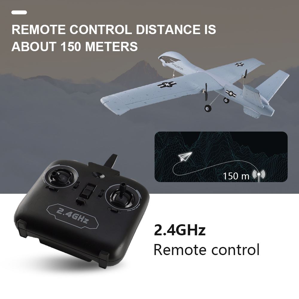 Image 5 - RC Airplane Plane Z51 20 Minutes Fligt Time Gliders 2.4G Flying Model with LED Hand Throwing Wingspan Foam Plane Toys Kids Gifts-in RC Airplanes from Toys & Hobbies