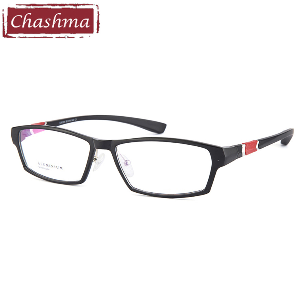 f5c9970109 Chashma marca deporte estilo hombres gafas aluminio magnesio marco TR90  Temple moda gafas con montura completa para hombres ancho 145