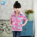 M & F Высокое Качество Девочка Пальто Куртки Осень-Весна Хлопок Младенческой Верхняя Одежда Симпатичные Бантом Малышей Детская Одежда Детская одежда