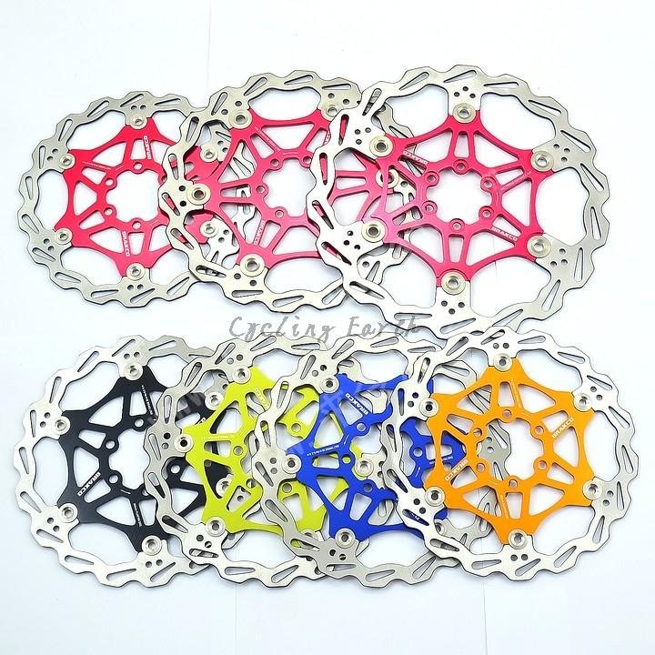 Free shipping,160/180/203mm MTB bike top stainless steel floating Cycling Bicycle Disc Brake Rotor Pads 5 color fouriers 140mm 160mm 180mm 203mm mtb bike brake disc rotors hydraulic mechnical mountain bicycle disc brake rotor