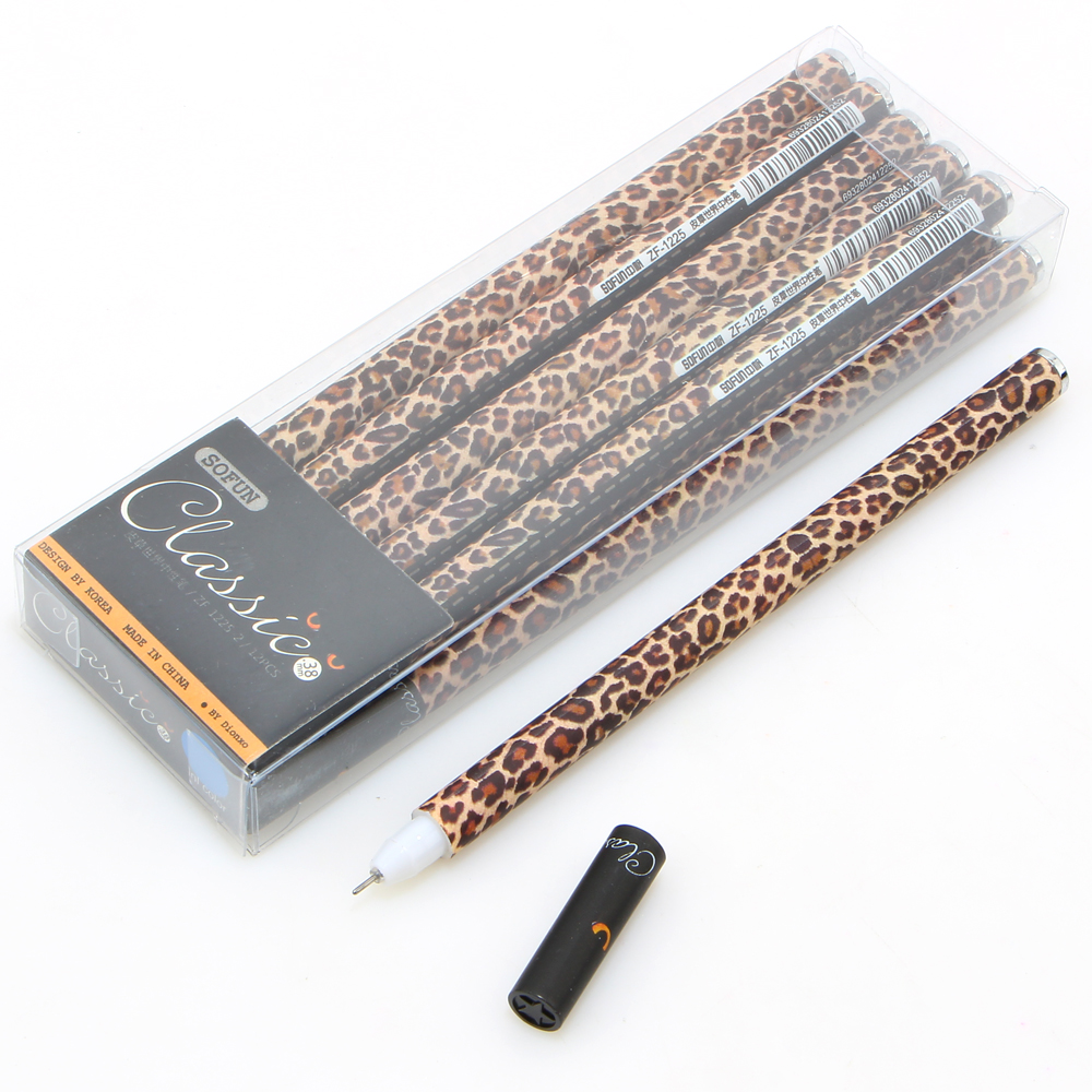 12Pcs/box 0.38mm Kawaii Fashion Diamond Leopard Grain Gel Pen Students  Writing School Office Supplies In Gel Pens From Office U0026 School Supplies On  ...