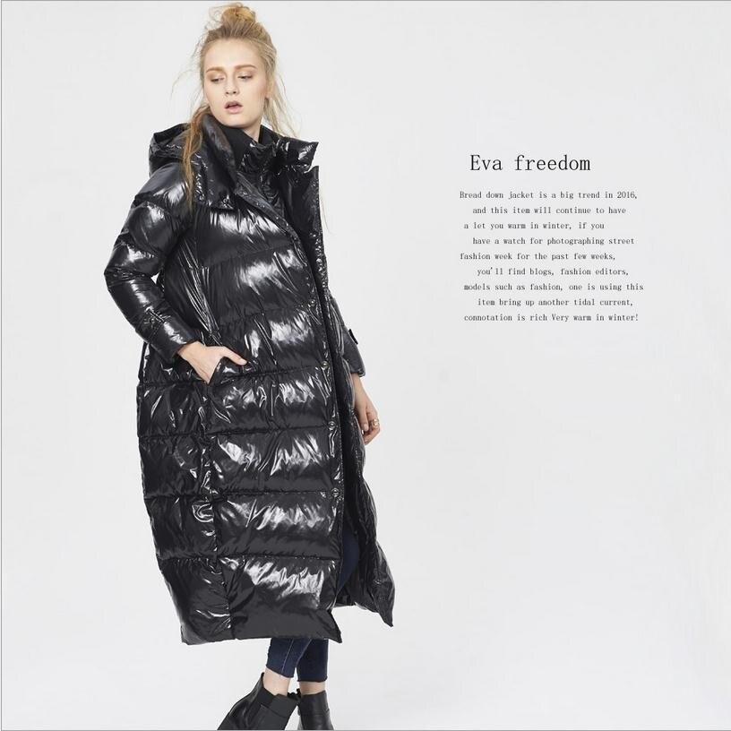 M-5XL Plus size winter fashion brand 90% Duck   down   parkas female fake two pieces bat style long thicker warm   coat   w1216