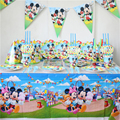 91 шт./лот роскошный happy birthday party декорации день рождения микки маус стиль праздничные атрибуты детские birthday party обновления