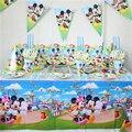 91 unids/lote lujo happy birthday party decoration set tema fiesta de cumpleaños mickey mouse suministros fiesta de cumpleaños del bebé paquete