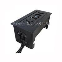 2017 New Black Silver Manual Socket With Universal Power USB HDMI Audio VGA With UK USA