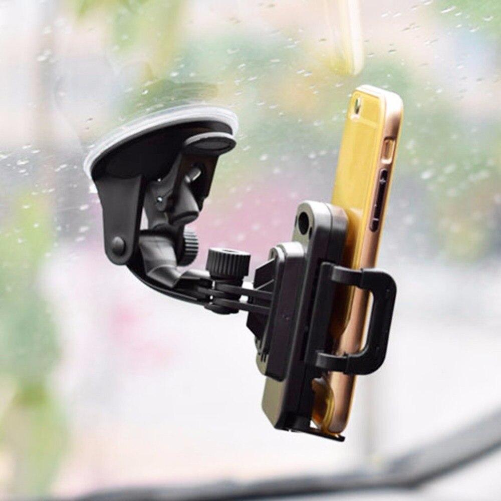 360 Degree Rotating Smart Phone GPS Universal Car Holder Adjustable Mount Bracket for 3.5-6.5 Inch Mobile Phone